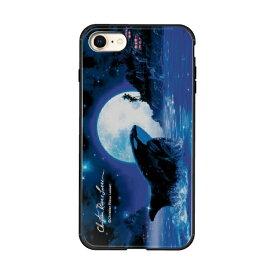 藤家 Fujiya iPhone8/7 (4.7) ラッセン ガラスハイブリッド ケース ghp7041-bk-e-ip8
