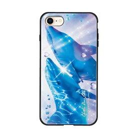 藤家 Fujiya iPhone8/7 (4.7) ラッセン ガラスハイブリッド ケース ghp7043-bk-b-ip8