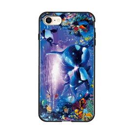 藤家 Fujiya iPhone8/7 (4.7) ラッセン ガラスハイブリッド ケース ghp7043-bk-d-ip8