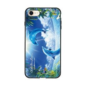 藤家 Fujiya iPhone8/7 (4.7) ラッセン ガラスハイブリッド ケース ghp7044-bk-c-ip8