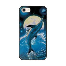 藤家 Fujiya iPhone8/7 (4.7) ラッセン ガラスハイブリッド ケース ghp7042-bk-e-ip8