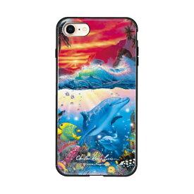 藤家 Fujiya iPhone8/7 (4.7) ラッセン ガラスハイブリッド ケース ghp7043-bk-c-ip8