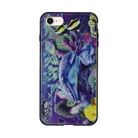 藤家 Fujiya iPhone8/7 (4.7) ラッセン ガラスハイブリッド ケース ghp7043-bk-e-ip8