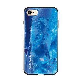 藤家 Fujiya iPhone8/7 (4.7) ラッセン ガラスハイブリッド ケース ghp7044-bk-b-ip8