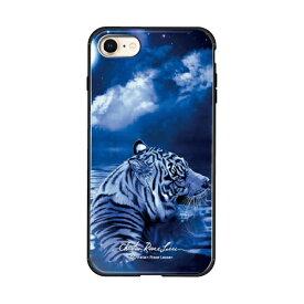 藤家 Fujiya iPhone8/7 (4.7) ラッセン ガラスハイブリッド ケース ghp7044-bk-d-ip8