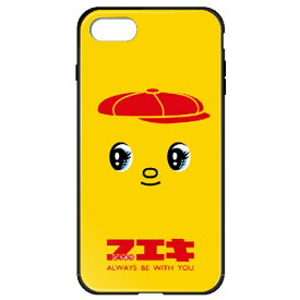 藤家 Fujiya iPhone8P/7P (5.5) フエキ ガラスハイブリッドケース ghp7169-bk-c-ip8p