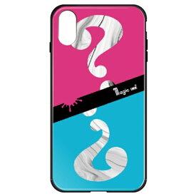 藤家 Fujiya iPhoneXR マジックインキ ガラスハイブリッドケース ghp7170-bk-e-ipxr
