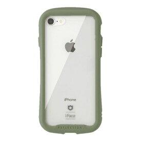 HAMEE ハミィ iPhone SE(第2世代)4.7インチ/ iPhone 8/7専用 iFace Reflection 強化ガラス クリアケース iFace カーキ 41-907511