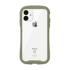 HAMEE ハミィ [iPhone 11専用]iFace Reflection 強化ガラス クリアケース iFace カーキ 41-907559