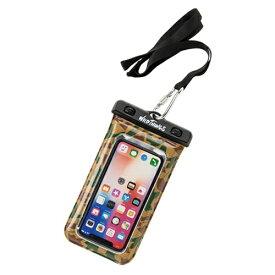 HAMEE ハミィ [各種スマートフォン対応]WILD THINGS(ワイルドシングス) DIVAID フローティング防水ケース WILD THINGS カモ 566-912720