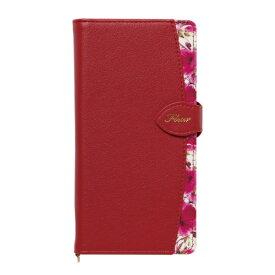ナチュラルデザイン NATURAL design マルチタイプ手帳型ケース L-size Fleur Wine Red ML-L-FLE03