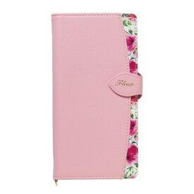 ナチュラルデザイン NATURAL design マルチタイプ手帳型ケース L-size Fleur Pink ML-L-FLE05