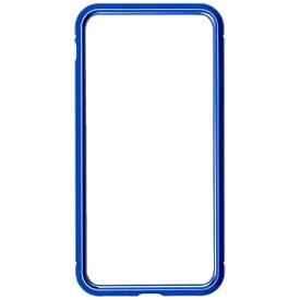 ナチュラルデザイン NATURAL design iPhone8/7専用背面繊維ガラス×アルミバンパーケース Blue iP7-MBP03