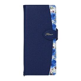 ナチュラルデザイン NATURAL design Xperia 5専用手帳型ケース Fleur Navy Xp5-FLE02