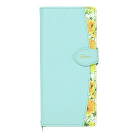 ナチュラルデザイン NATURAL design Xperia 5専用手帳型ケース Fleur Mint Xp5-FLE06