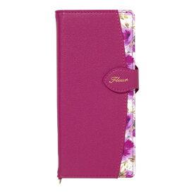 ナチュラルデザイン NATURAL design Xperia 5専用手帳型ケース Fleur Magenta Xp5-FLE07