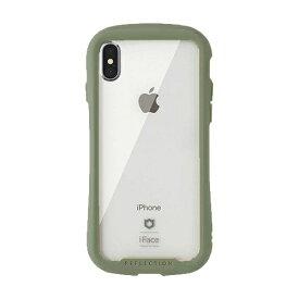 HAMEE ハミィ [iPhone XS/X専用]iFace Reflection 強化ガラス クリアケース iFace カーキ 41-907528