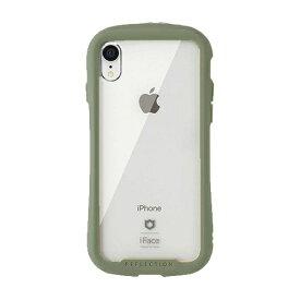 HAMEE ハミィ [iPhone XR専用]iFace Reflection 強化ガラス クリアケース iFace カーキ 41-907535