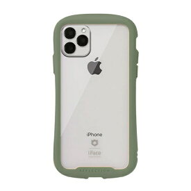 HAMEE ハミィ [iPhone 11 Pro専用]iFace Reflection 強化ガラス クリアケース iFace カーキ 41-907542