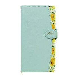 ナチュラルデザイン NATURAL design マルチタイプ手帳型ケース L-size Fleur Mint ML-L-FLE06