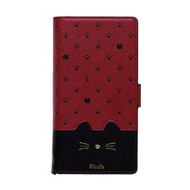 ナチュラルデザイン NATURAL design マルチタイプ手帳型ケース L-size Minette Red-Black ML-L-MIN08