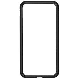ナチュラルデザイン NATURAL design iPhone8/7専用背面繊維ガラス×アルミバンパーケース Black iP7-MBP01