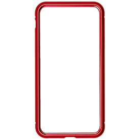 ナチュラルデザイン NATURAL design iPhone8/7専用背面繊維ガラス×アルミバンパーケース Red iP7-MBP04