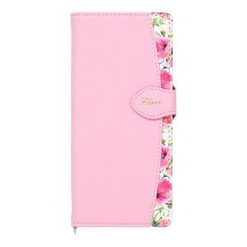 ナチュラルデザイン NATURAL design Xperia 5専用手帳型ケース Fleur Pink Xp5-FLE05