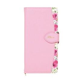 ナチュラルデザイン NATURAL design AQUOS sense3専用手帳型ケース Fleur Pink AQS3-FLE05
