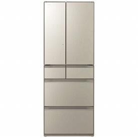 日立 HITACHI R-HX60N-XN 冷蔵庫 HXタイプ ファインシャンパン [6ドア /観音開きタイプ /602L][冷蔵庫 大型]《基本設置料金セット》