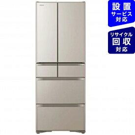 日立 HITACHI R-X48N-XN 冷蔵庫 クリスタルシャンパン [6ドア /観音開きタイプ /475L][冷蔵庫 大型]《基本設置料金セット》