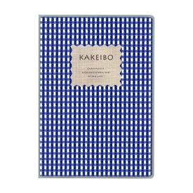 ダイゴー DAIGO ギンガムチェック家計簿A5ブルー