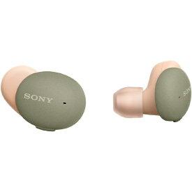 ソニー SONY フルワイヤレスイヤホン アッシュグリーン WF-H800 GM [リモコン・マイク対応 /ワイヤレス(左右分離) /Bluetooth]