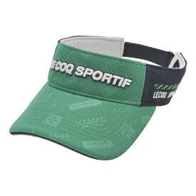 ルコック le coq メンズ ゴルフバイザー アイコンエンボスバイザー(フリーサイズ/グリーン) QGBPJC53