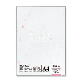 マルアイ MARUAI OA-MW3 〔各種プリンタ〕 OA用紙 和紙 0.17mm [A4 /10枚] 桜