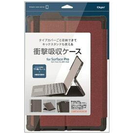 ナカバヤシ Nakabayashi Surface Pro 7 / Pro 6 / Pro 2017 / Pro 4用 衝撃吸収ケース レッド TBC-SFP1904R