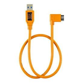 テザーツールズ Tether Tools テザープロ ライト アングル アダプター USB 3.0 トゥ USB 3.0 マイクロ -B 5- ピン オレンジ CU61RT02-ORG
