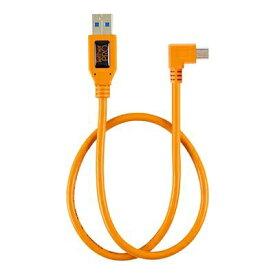 テザーツールズ Tether Tools テザープロ ライト アングル アダプター USB 2.0 トゥ USB 2.0 ミニ -B 5- ピン オレンジ CU51RT02-ORG