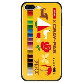 藤家 Fujiya iPhone8P/7P (5.5) サクラクレパス ガラスハイブリッド ケース ghp7046-bk-b-ip8p