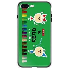 藤家 Fujiya iPhone8P/7P (5.5) サクラクレパス ガラスハイブリッド ケース ghp7046-bk-c-ip8p
