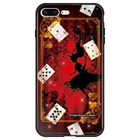 藤家 Fujiya iPhone8P/7P (5.5) 幻想デザイン ガラスハイブリッド ケース ghp7053-bk-a-ip8p