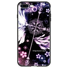 藤家 Fujiya iPhone8P/7P (5.5) 幻想デザイン ガラスハイブリッド ケース ghp7053-bk-c-ip8p