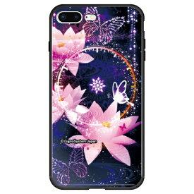 藤家 Fujiya iPhone8P/7P (5.5) 幻想デザイン ガラスハイブリッド ケース ghp7053-bk-j-ip8p