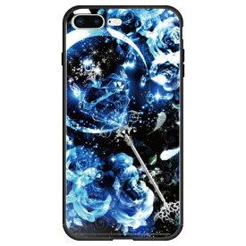 藤家 Fujiya iPhone8P/7P (5.5) 幻想デザイン ガラスハイブリッド ケース ghp7053-bk-p-ip8p