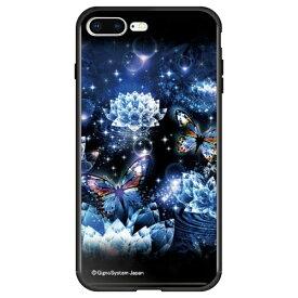 藤家 Fujiya iPhone8P/7P (5.5) 幻想デザイン ガラスハイブリッド ケース ghp7053-bk-v-ip8p