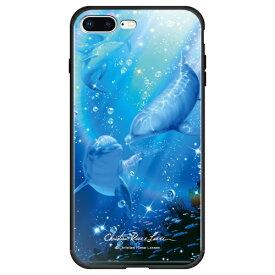 藤家 Fujiya iPhone8P/7P (5.5) ラッセン ガラスハイブリッド ケース ghp7041-bk-b-ip8p