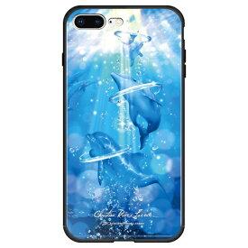 藤家 Fujiya iPhone8P/7P (5.5) ラッセン ガラスハイブリッド ケース ghp7041-bk-c-ip8p