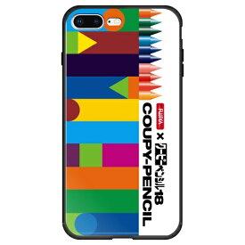 藤家 Fujiya iPhone8P/7P (5.5) サクラクレパス ガラスハイブリッド ケース ghp7046-bk-a-ip8p