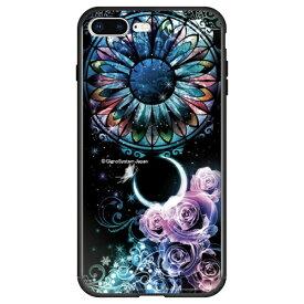 藤家 Fujiya iPhone8P/7P (5.5) 幻想デザイン ガラスハイブリッド ケース ghp7053-bk-b-ip8p