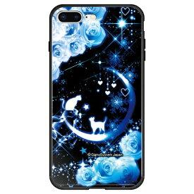 藤家 Fujiya iPhone8P/7P (5.5) 幻想デザイン ガラスハイブリッド ケース ghp7053-bk-d-ip8p